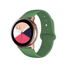 Акция на Ремешок для Samsung Galaxy Watch Active | Active 2 40/44mm силиконовый 20 мм Зеленый BeWatch (1010306) от Allo UA