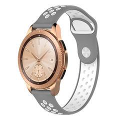 Акция на Ремешок BeWatch sport-style для Samsung Galaxy Watch 42 мм Серо-Белый (1010142.2) от Allo UA