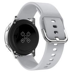 Акция на Ремешок для Samsung Galaxy Watch 42мм | Active | Active 2 силиконовый 20мм NewColor Серый (1012304) от Allo UA