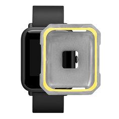 Акция на Защитный чехол BeWatch для Xiaomi Amazfit BIP Серо-желтый (1011846) от Allo UA