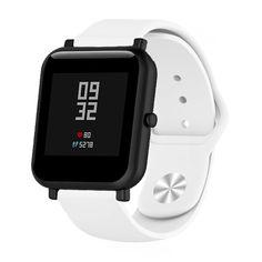 Акция на Ремешок для Samsung Galaxy Watch Active   Active 2 силиконовый 20 мм Белый BeWatch (1010302) от Allo UA