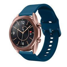 Акция на Ремешок для Samsung Galaxy Watch 42mm   Galaxy Watch 3 41 mm силиконовый 20мм NewColor Темно-Бирюзовый (1012316) от Allo UA