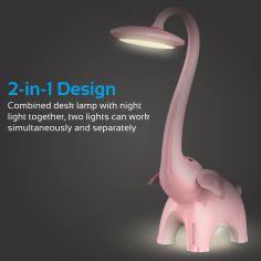 Акция на Детская настольная лампа Promate Snorky Pink snorky.pink ТМ: Promate от Antoshka
