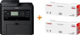 Акция на МФУ лазерное Canon i-SENSYS MF237w c Wi-Fi (бандл c 2 картриджами) от MOYO