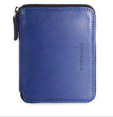 Акция на Кошелёк кожаный Tucano Sicuro Premium Wallet (синий) от MOYO