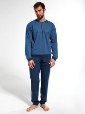Акция на Пижама Cornette 308-20/161 XXL Джинсовая с темно-синим (5902458158607) от Rozetka