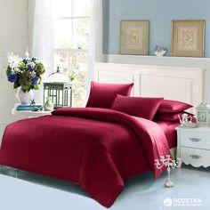 Акция на Комплект постельного белья U-tek Home Sateen 160х220 см Wine Red (KHSR01) от Rozetka