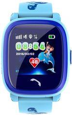 Акция на Детские телефон-часы с GPS трекером GOGPS ME K25 Blue (K25BL) от Rozetka