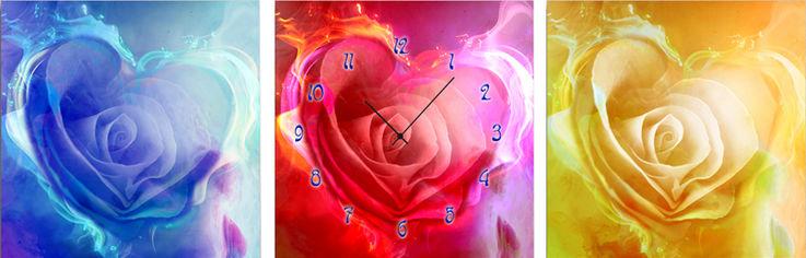 Акция на Настенные часы ART-LIFE COLLECTION 2C-71-3p-W от Rozetka
