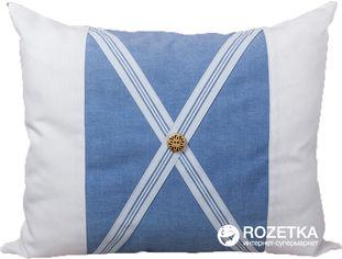 Акция на Подушка декоративная Limaso 40х50 Голубые полоски (GP06) от Rozetka