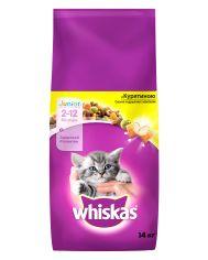 Акция на Сухой корм для котят Whiskas с курицей 14 кг (5900951014369) от Rozetka