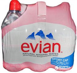 Упаковка минеральной негазированной воды Evian Sport 0.75 л х 6 бутылок (3068320014067_3068320105314) от Rozetka