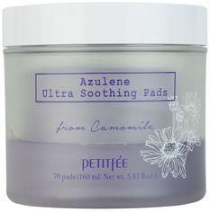 Акция на Ультра-увлажняющие подушечки Petitfee Azulene Ultra Soothing Pads 70 шт (8809508850238) от Rozetka