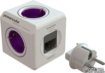 Сетевой разветвитель Allocacoc Powercube Rewirable с заземлением 4 розетки USB (1810/DERU4P) от Rozetka