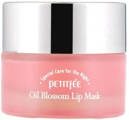 Акция на Ночная маска для губ с витамином Е и маслом камелии Petitfee Oil Blossom Lip Mask 15 г (8809508850023) от Rozetka