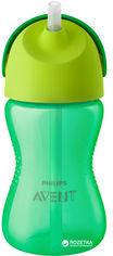 Акция на Чашка с трубочкой Philips AVENT 300 мл 12 мес+ Зеленая (SCF798/01) от Rozetka