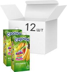 Акция на Упаковка нектара Садочок Мультифруктовый нектар витаминизированный 0.95 л х 12 шт (4823063107280) от Rozetka
