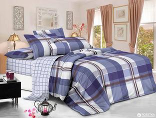 Комплект постельного белья Novita Сатин 70317 Клетка 210х220 Combi (ROZ6205013181) от Rozetka