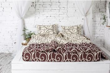 Комплект постельного белья Novita Фланель 180х215 см (40-0998 brown 2.0) от Rozetka