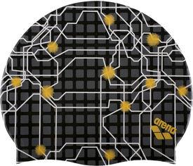 Шапочка для плавания Arena Print 2 1e368-501 Maps-black (3468335830476) от Rozetka