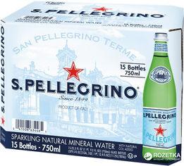 Акция на Упаковка минеральной газированной воды S.Pellegrino 0.75 л х 15 бутылок (8002270052453) от Rozetka