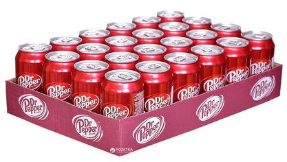 Упаковка безалкогольного напитка Dr Pepper 0.33 л х 24 банки (8435185944245) от Rozetka