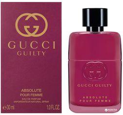 Акция на Парфюмированная вода для женщин Gucci Guilty Absolute Pour Femme 30 мл (8005610524115) от Rozetka