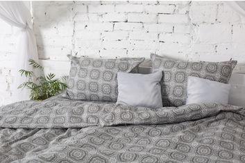 Комплект постельного белья Novita Фланель 210х220 см (40-1044 grey евро) от Rozetka
