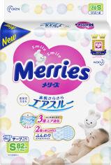 Акция на Подгузники Merries для детей S 4-8 кг 82 шт (4901301230812) от Rozetka