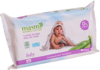 Акция на Детские влажные салфетки Masmi Organic 60 шт (8432984001056) от Rozetka