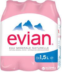 Акция на Упаковка минеральной негазированной воды Evian 1.5 л х 6 бутылок (3068320085005) от Rozetka