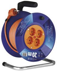 Акция на Сетевой удлинитель на катушке Emos P09220 20 м Оранжевый от Rozetka