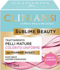 Акция на Крем для зрелой кожи Clinians Sublime Beauty Подтягивающий и выравнивающий тон лица 50 мл (8003510020072) от Rozetka