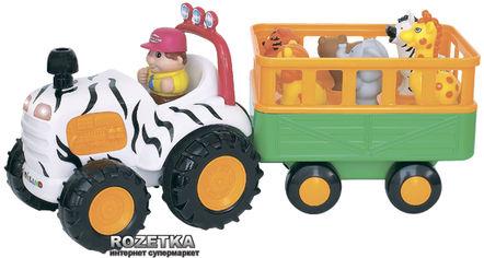 Акция на Игровой набор Трактор Сафари (озвучен по-русски) Kiddieland (051169) от Rozetka