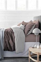 Акция на Комплект постельного белья MirSon Сатин Premium Белье Lactic 0001+0211 200х220 (2200000689054) от Rozetka