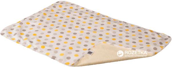 Акция на Непромокаемая двусторонняя детская пеленка Эко Пупс Eco Cotton хлопок 65х90 см Горошек (EPG10N-6590g) от Rozetka