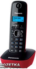 Акция на Panasonic KX-TG1611UAR Red от Rozetka