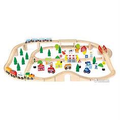Акция на Деревянная железная дорога Viga Toys 90 элементов (50998) от Rozetka