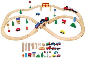 Акция на Деревянная железная дорога Viga Toys 49 элементов (56304) от Rozetka