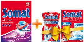 Акция на Стартовый набор Somat Таблетки для посудомоечной All in one 48 шт + Somat Salt + M care (9000101360943) от Rozetka