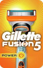 Акция на Станок для бритья мужской (Бритва) Gillette Fusion5 Power с 1 сменным картриджем (7702018877539) от Rozetka
