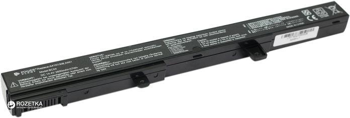 Акция на Аккумулятор PowerPlant для Asus X451 (A41N1308, ASX551L7) (14.4V/2600mAh/4 Cells) (NB00000299) от Rozetka