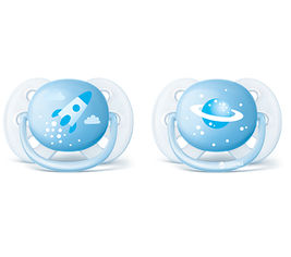 Пустышка Philips AVENT Ultra Soft для мальчиков 0-6 мес 2 шт (SCF222/20) от Rozetka