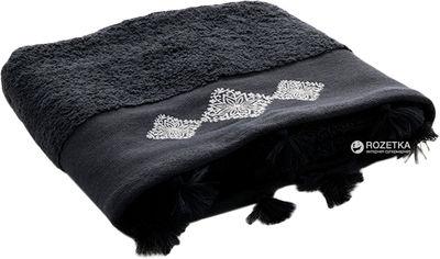 Махровое полотенце English Home Snowstar 50х80 Темно-серое (8680886548371) от Rozetka