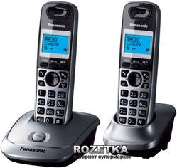 Акция на Panasonic KX-TG2512UAM Metallic от Rozetka