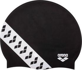 Акция на Шапочка для плавания Arena Team Stripe Cap 001463-501 Black (3468336074374) от Rozetka