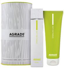 Акция на Подарочный набор для женщин Agrado Sparking Love туалетная вода 100 мл + молочко для тела + тубус (8433295058906) от Rozetka