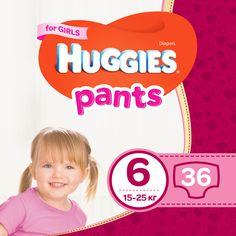 Трусики-подгузники Huggies Pants 6 Mega для девочек 36 шт (5029053564050) от Rozetka