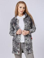 Акция на Джинсовая куртка Mila Nova Q-31 52 Черная (2000000012704) от Rozetka