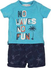 Костюм (футболка + шорты) Minoti Coconut 1 7678 80-86 см Синий (5059030005498) от Rozetka